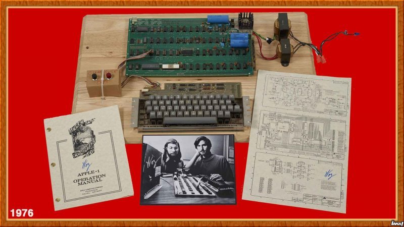 Apple 1 lancer en avril 1976 par Steve Wozniak et Steve Jobs